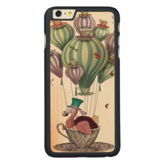Dodo Balloon with Dragonflies Carved® Maple iPhone 6 Plus Case