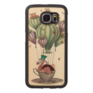 Dodo Balloon with Dragonflies Wood Phone Case