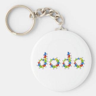 Dodo Basic Round Button Key Ring