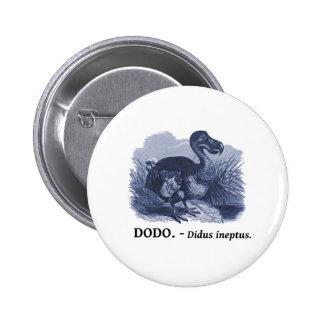Dodo Bird (Didus ineptus) 6 Cm Round Badge
