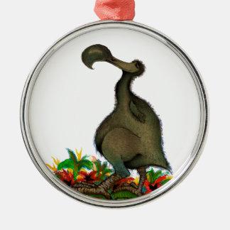 Dodo bird, tony fernandes Silver-Colored round decoration