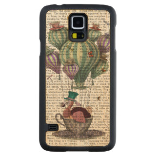 Dodo in Teacup with Dragonflies Carved Maple Galaxy S5 Case