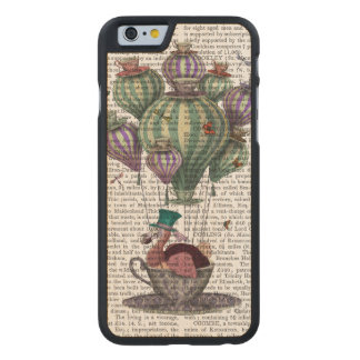 Dodo in Teacup with Dragonflies Carved Maple iPhone 6 Case