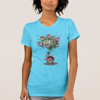 Dodo in Teacup with Dragonflies T-Shirt