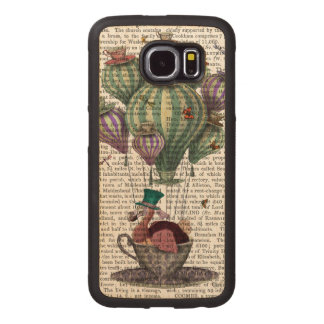 Dodo in Teacup with Dragonflies Wood Phone Case