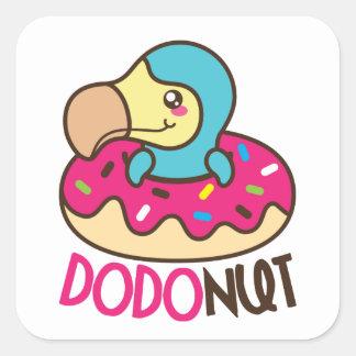 Dodonut (donut) Square Stickers
