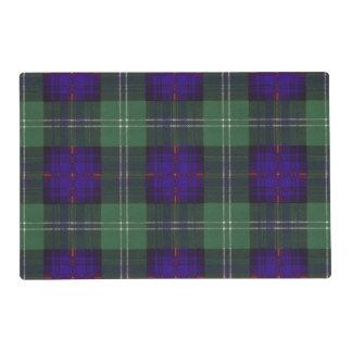 Dods clan Plaid Scottish kilt tartan Laminated Place Mat