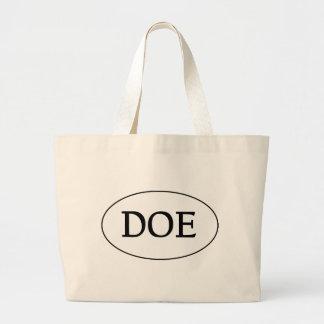 DOE Oval Logo Jumbo Tote Bag