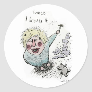 Does Brexit mean Breaks It? Classic Round Sticker