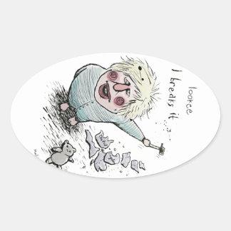 Does Brexit mean Breaks It? Oval Sticker
