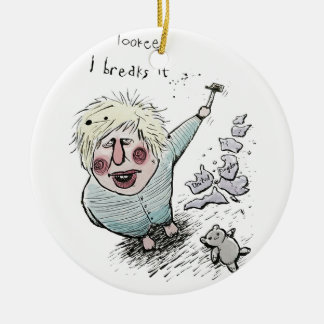 Does Brexit mean Breaks It? Round Ceramic Decoration