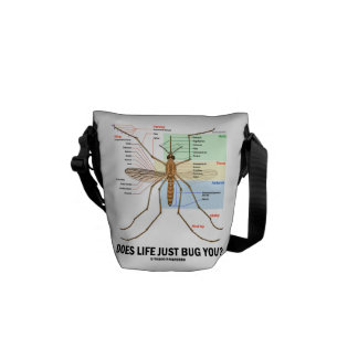 Does Life Just Bug You? (Mosquito Anatomy) Courier Bags