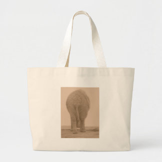 does my bum look big sepia large tote bag
