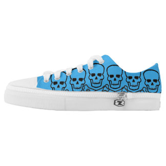 Does My Skull Look Blue to You Low Tops