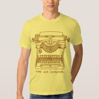 Does Not Compute (Mustard) T-shirts