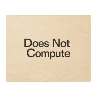 Does Not Compute Wood Canvases