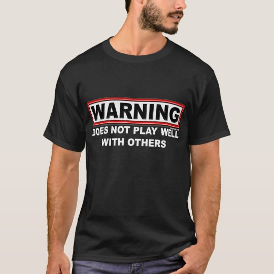 Does not play wellMen's Dark T-Shirts