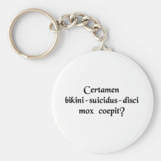 Does the Bikini-Suicide-Frisbee match start soon? Basic Round Button Key Ring