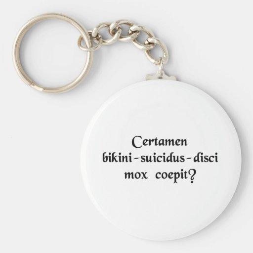 Does the Bikini-Suicide-Frisbee match start soon? Key Chain