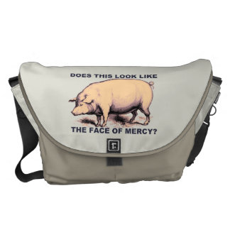 Does This Look Like The Face of Mercy?  Grumpy Pig Commuter Bag