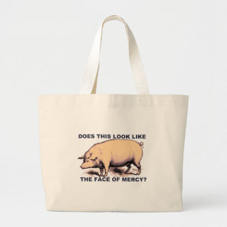 Does This Look Like The Face of Mercy?  Grumpy Pig Jumbo Tote Bag