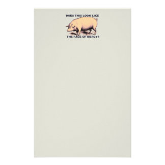 Does This Look Like The Face of Mercy?  Grumpy Pig Stationery Design