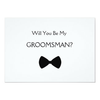 Does Will you see my groomsman? 13 Cm X 18 Cm Invitation Card
