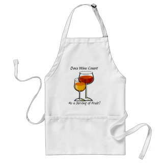 Does wine count as a serving of fruit? standard apron