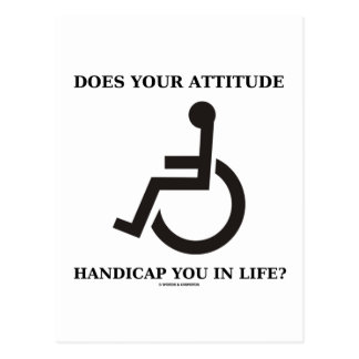 Does Your Attitude Handicap You In Life? Postcard