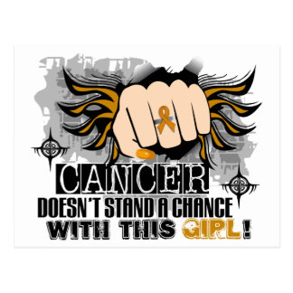 Doesn't Stand A Chance Appendix Cancer Postcard