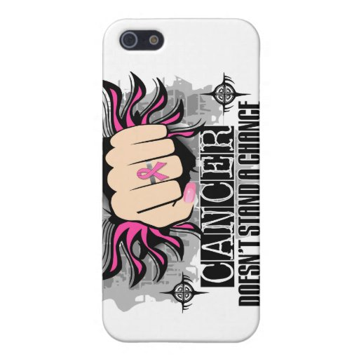 Doesn't Stand A Chance Breast Cancer iPhone 5 Cover
