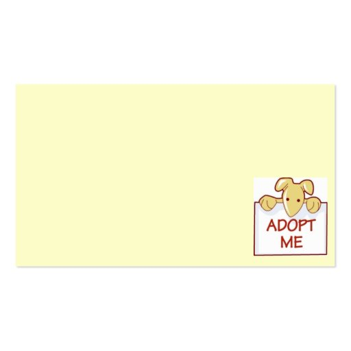 dog511 ADOPT ME RESCUE DOGS ANIMALS CAUSES CARTOON Business Card
