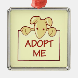 dog511 ADOPT ME RESCUE DOGS ANIMALS CAUSES CARTOON Ornaments