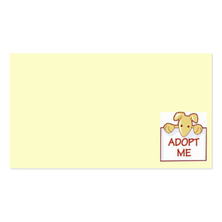 dog511 ADOPT ME RESCUE DOGS ANIMALS CAUSES CARTOON Pack Of Standard Business Cards
