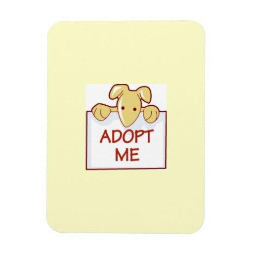 dog511 ADOPT ME RESCUE DOGS ANIMALS CAUSES CARTOON Rectangular Magnet