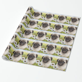 Dog 114 Puppy Pug Wrapping Paper