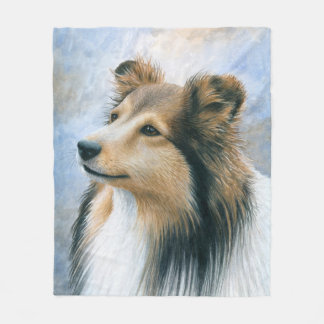 Dog 122 Sheltie Collie Fleece Blanket