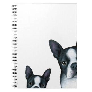 dog 128 Boston Terrier Notebooks