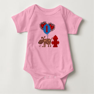 Dog 1st Birthday Baby Bodysuit