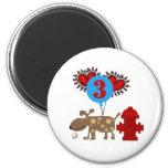 Dog 3rd Birthday Magnets