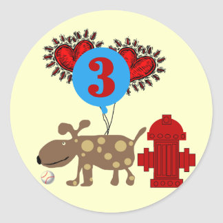 Dog 3rd Birthday Tshirts and Gifts Sticker
