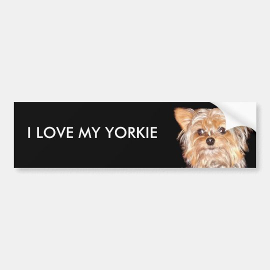 Dog 4, I LOVE MY YORKIE, Bumper Sticker