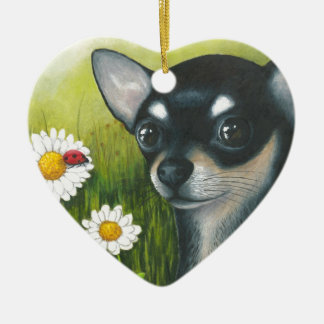 Dog 79 black Chihuahua Christmas Ornament