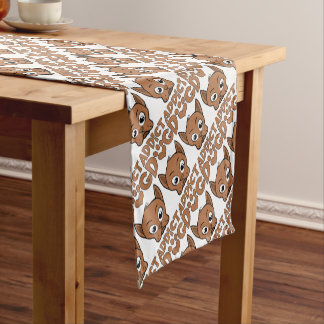 Dog addict short table runner