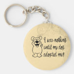 Dog Adoption Basic Round Button Key Ring