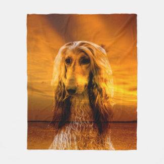 Dog Afghan Hound Fleece Blanket