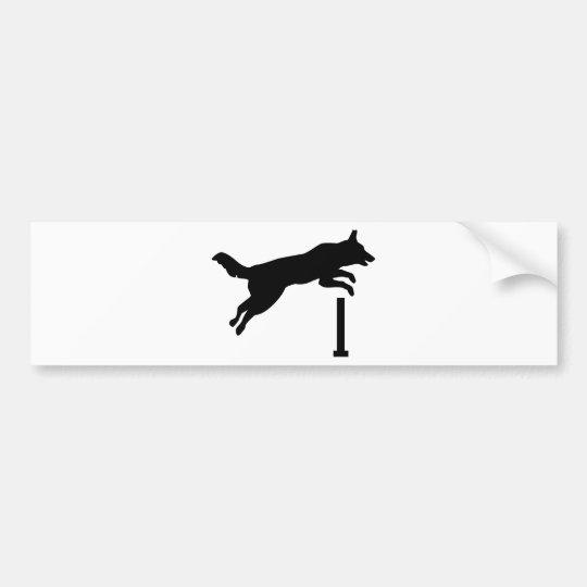 Dog agility bumper sticker