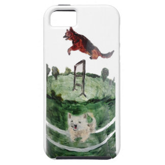 Dog Agility Painting iPhone 5 Cases