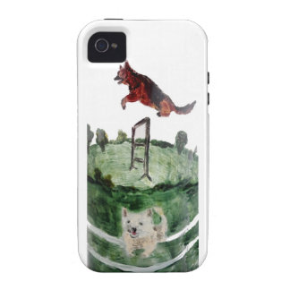 Dog Agility Painting Vibe iPhone 4 Cases