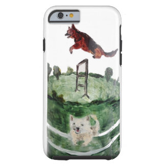 Dog Agility Painting Tough iPhone 6 Case